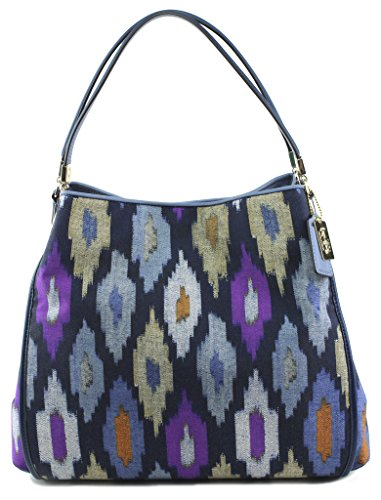Coach Madison Phoebe Ikat Print Canvas Shoulder Bag, Style 30803