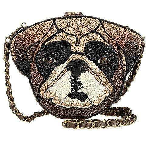 Mary Frances Mr. Beebs Dog Bag Handbag Brown Bag