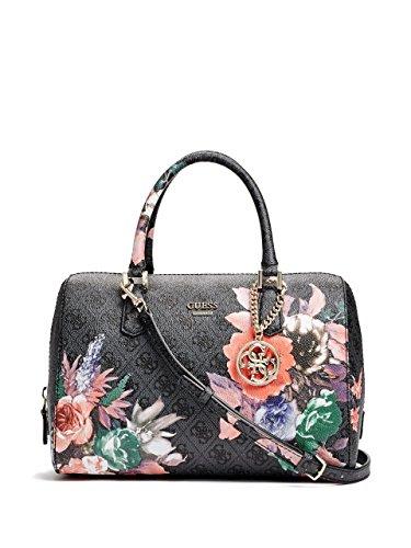 GUESS Linea Floral-Print Logo Box Satchel