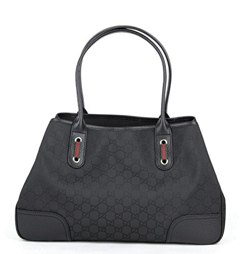 Gucci Women's Black GG Nylon Handbag Princy Tote Bag 293592 1060