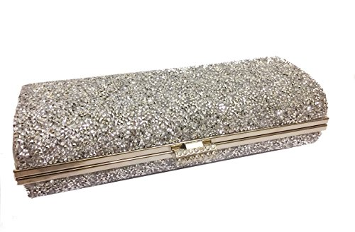 Diamante Women's All Covered Party Bag, Clutch Crossbody, Evening Bag