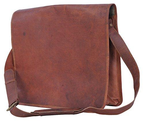 Passion Leather Vintage 14 Inch Leather Messenger Satchel Bag/ Fits 13″ 14″ Laptops
