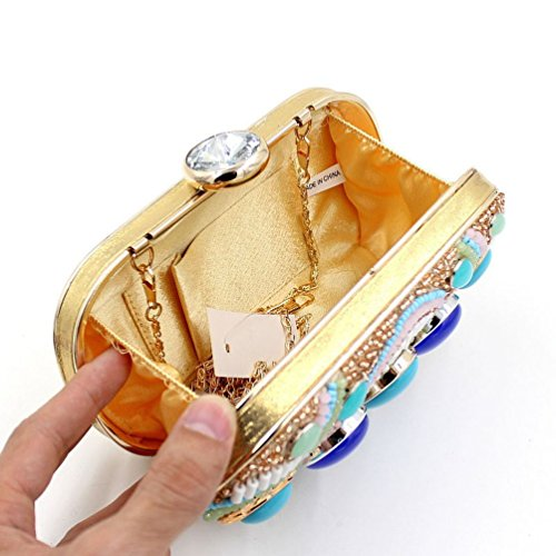Mygoodie Luxury women'ss Rhinestone Gold Clutch Silver Full Crystals Evening Bag Handbag