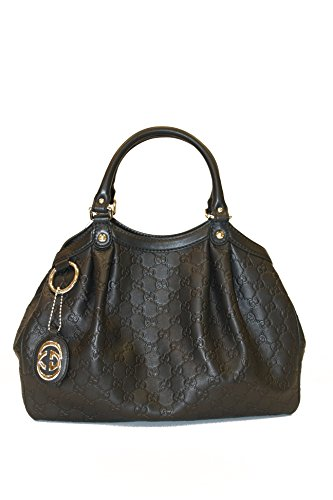 Gucci Handbag Black Guccissima Leather