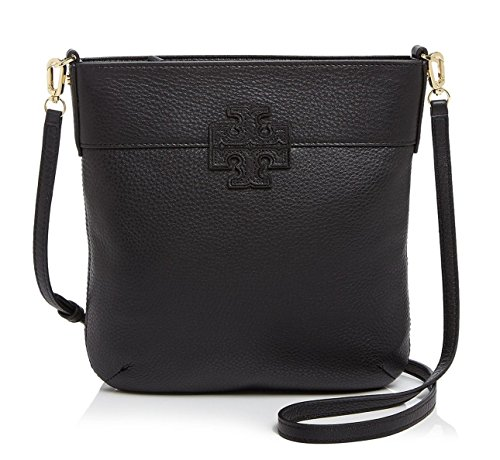 Tory Burch Stacked T Crossbody Leather Bag in Black
