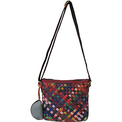 AmeriLeather Stella Slim Crossbody (Rainbow)