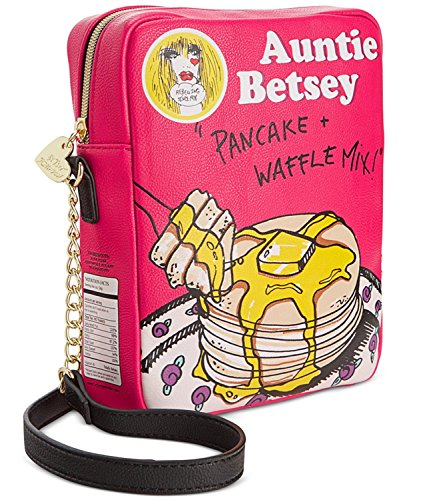 Betsey Johnson Bj53945 Kitch 2 Betsey's Flapjacks Pancake Crossbody Shoulder Bag