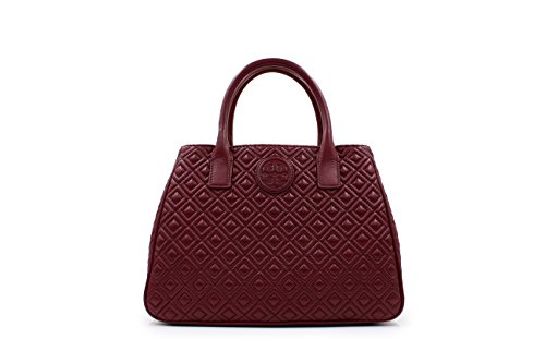 Tory Burch Red Agate Marion Quilted Tote