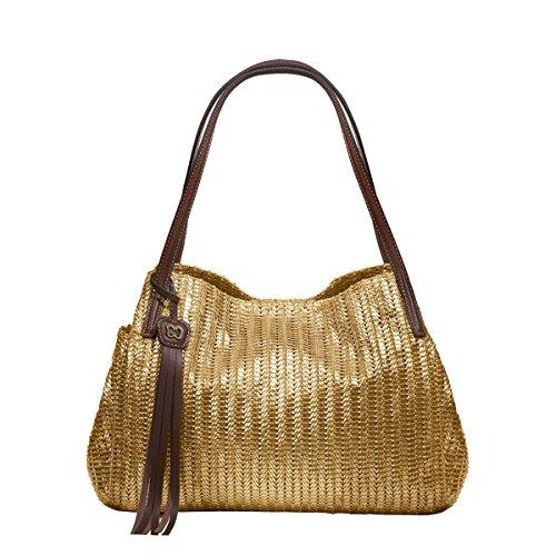 Eric Javits Designer Women's Aura Handbag (Gold)