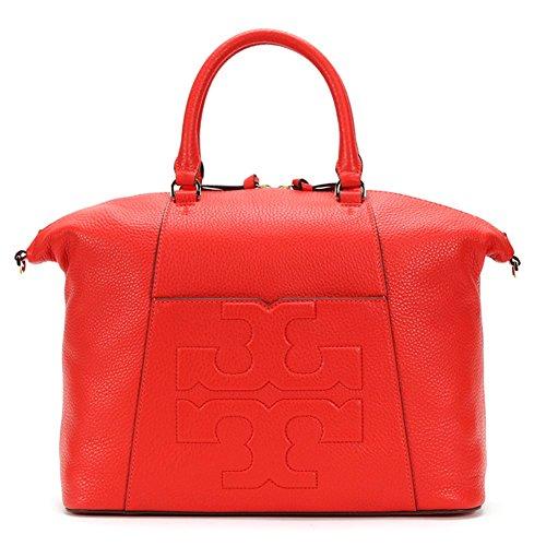 6261f3b51219 Tory Burch Bombe-T Medium Slouchy Satchel 21169798 Poppy Red One Size