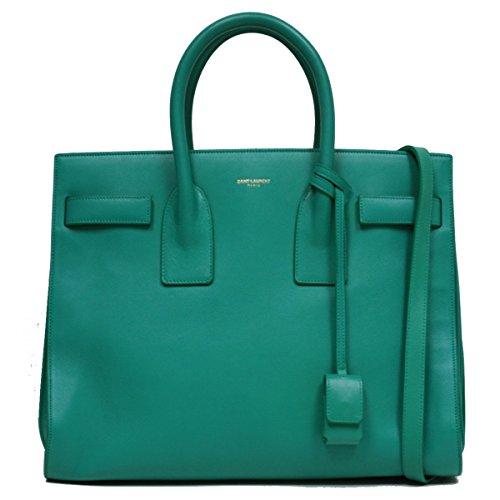 Saint Laurent Sea Foam Green Calf Leather Classic Small Sac De Jour Satchel Bag 324823