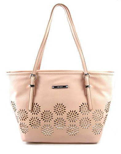 Nine West It Girl Laser Cut Out Daisy Small Tote, Cameo Rose