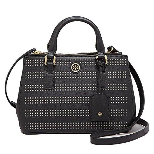 Tory Burch Robinson Zip Tote Bag Black Handbag