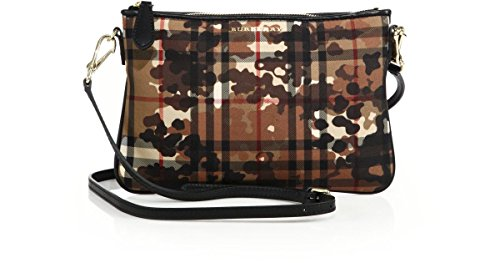 Burberry Horseferry Check Camo Print Peyton Crossbody Wristlet Clutch