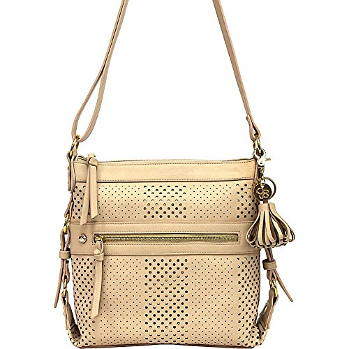 Jessica Simpson Women's Paige Crossbody Light Taupe Cross Body