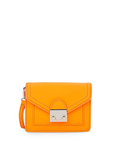 Loeffler Randall Baby Rider Convertible Leather Waist Pack/handbag, Orange