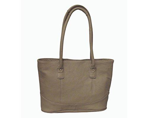 Amerileather Casual Leather Handbag – Beige