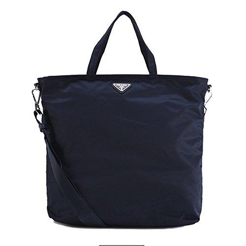 Prada Navy Blue Tessuto Nylon Shoulder Tote Bag BN2894