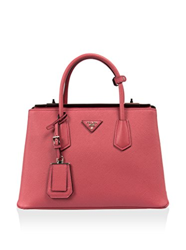 Prada Women's BN2823 2A4A F060M Saffiano Leather Tote, Pink, Medium
