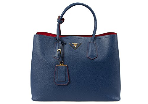 Prada Women's BN2756 F0016 Saffiano Leather, Blue, Medium