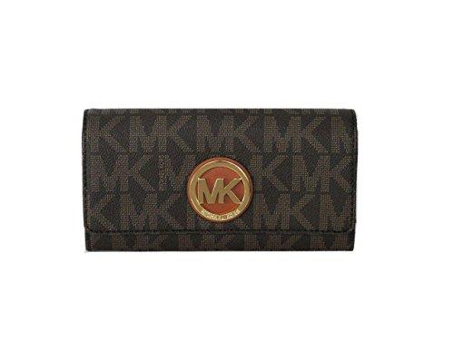 MICHAEL Michael Kors Fulton Flap Continental Wallet MK Sig PVC