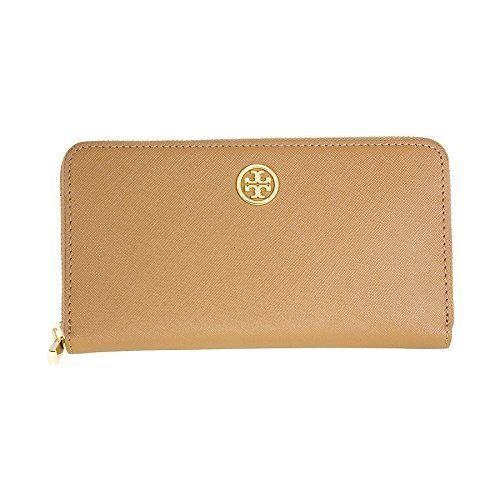 Tory Burch Robinson Zip Continental Wallet – Tigers Eye
