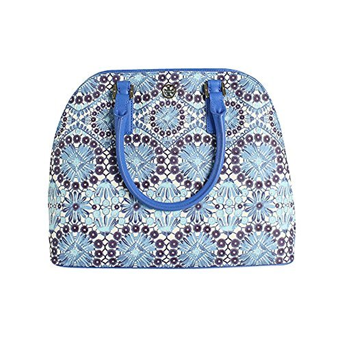 Tory Burch Robinson Floral Print Open Dome Satchel Bahama Multi