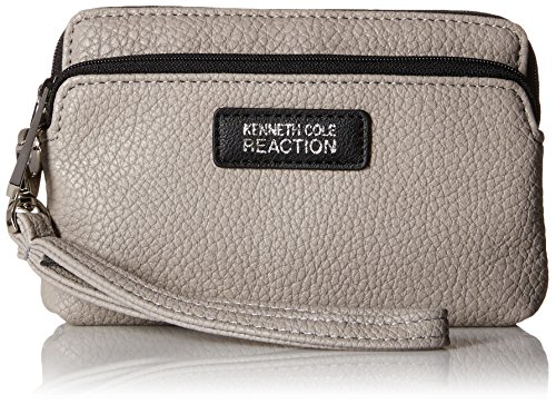 Kenneth Cole Reaction Drive Double Zip Phone Wristlet Cross Body Bag, Mink, One Size