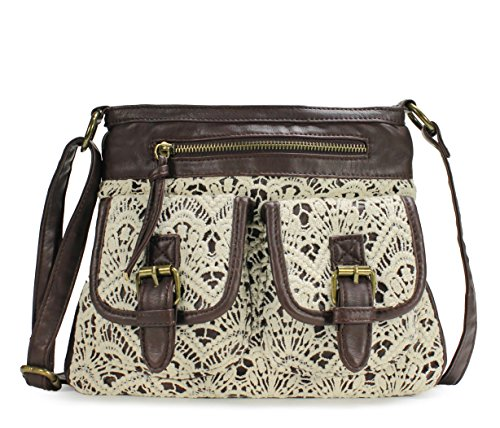 Scarleton Fashionable Lace Style Crossbody Bag H1906