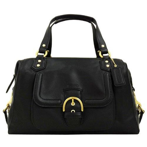 Coach 25151 Campbell Black Leather Large Satchel Handbag