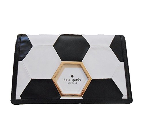 Kate Spade New York 'Victory Goal' Taza Clutch, Soccer Black / White