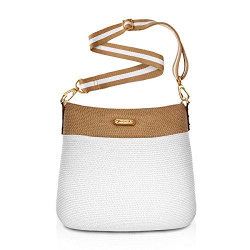 Eric Javits Women's Escape Pouch Handbag (White/Natural)