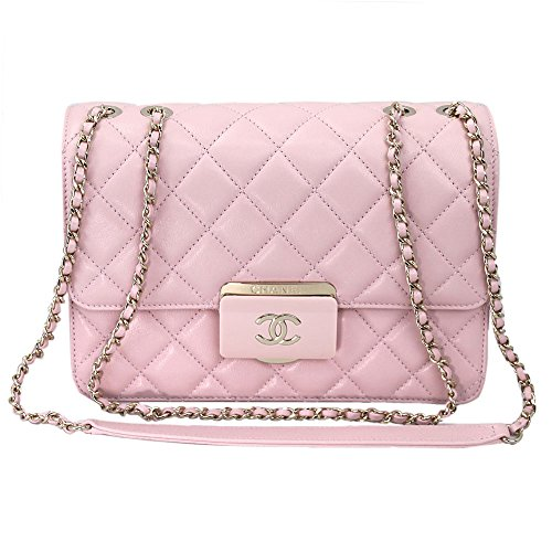 Chanel Pink Sheepskin Leather Chain shoulder Flap bag A93222 Y60545