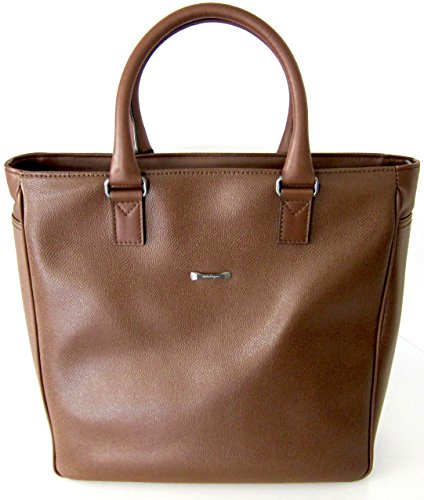 Salvatore Ferragamo tan leather hand bag tote style made in Italy