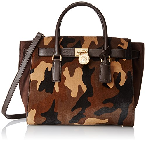 Michael Kors Large Hamilton Traveler Tote in Duffel Camo Haircalf