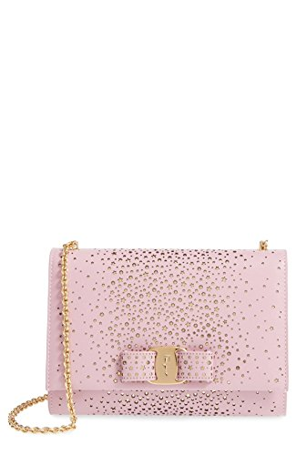 Salvatore Ferragamo Miss Vara Twinkle Fashion Show Collection Leather Clutch Pink
