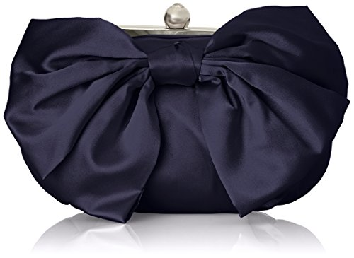 Jessica McClintock Oversized Bow Pouchette Evening Bag