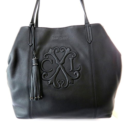 Leather bag 'Christian Lacroix'black.