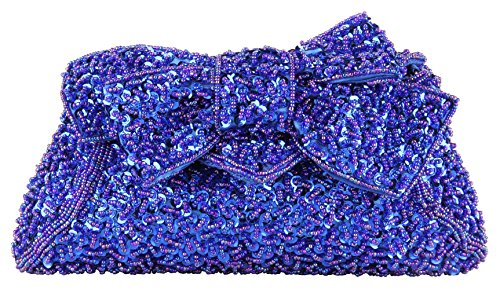 Grace Angel Women's Full Sequins Hand Beaded Bow Prom Evening Handbag Bridal Clutch GAF520