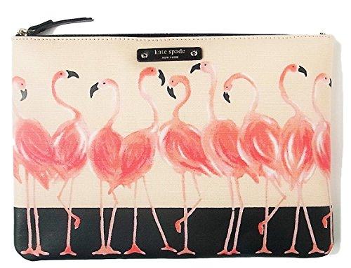 Kate Spade Gia Take a Walk On the Wild Side Flamingo Clutch Bag Pouch