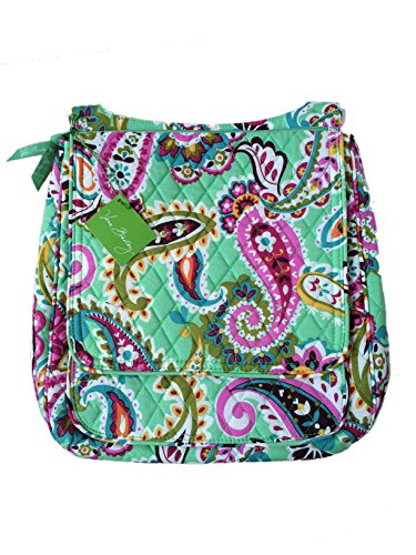 Vera Bradley Mailbag Cross-body in Tutti Fruiti with Solid Pink Interiors