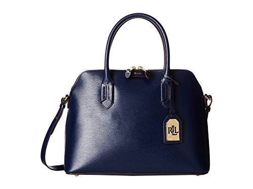 LAUREN Ralph Lauren Women's Tate Dome Satchel Navy/Cocoa none none