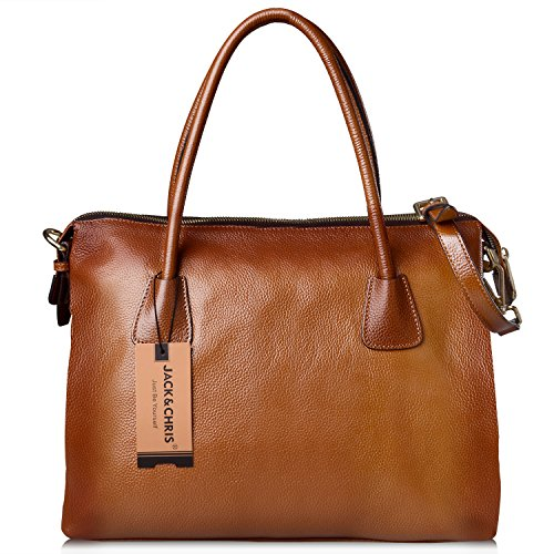 Jack&Chris®Women's Leather Tote Shoulder Bag Handbag,WBDN008