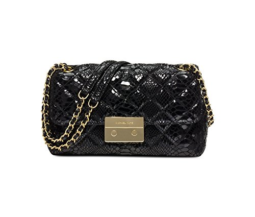 MICHAEL Michael Kors Womens Sloan Large Chain Shoulder Bag Black/Gold
