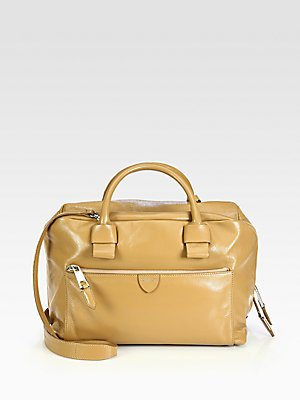 Marc Jacobs Antonia Small Leather Satchel Bag in Beige #8008