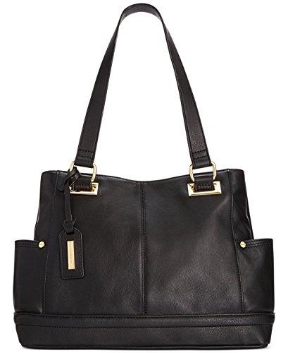 Tignanello Womens Pretty Pockets Smooth Leather Shopper (Black)