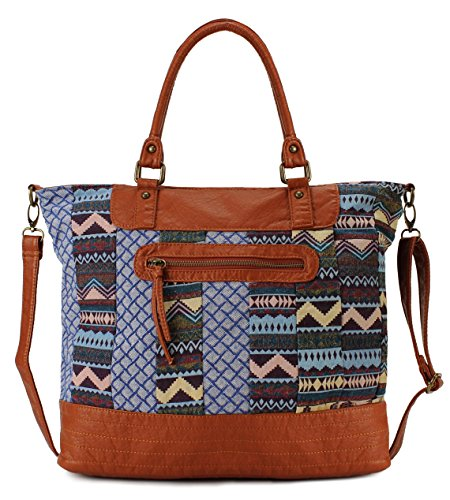 Scarleton Soft Washed Jacquard Shoulder Bag H1701