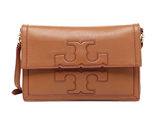 Tory Burch Jessica Square Massager Bag in Brown $450.00