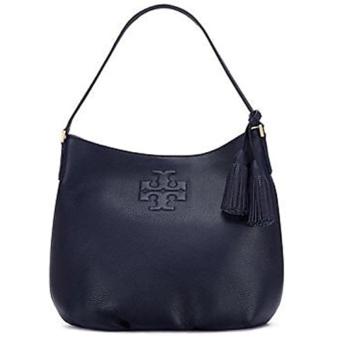 Tory Burch Thea Hobo Navy Blue Leather Handbag