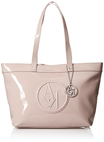 Armani Jeans Eco Patent Tote Bag, Pink, One Size